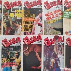 Coleccionismo deportivo: LOTE 10 REVISTAS GIGANTES DEL BASKET Nº 35-38-57-70-71-72-73-74-75-76 1986 1987 NBA ACB POSTER. Lote 263647195