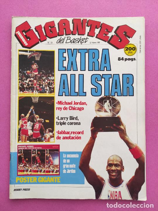 Coleccionismo deportivo: REVISTA GIGANTES DEL BASKET Nº 120 1988 EXTRA ALL STAR NBA CHICAGO 88 POSTER GIGANTE MICHAEL JORDAN - Foto 3 - 263673005