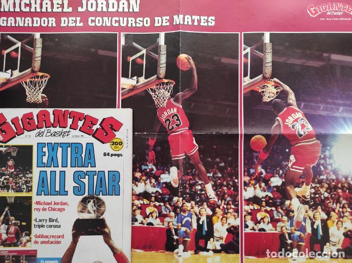 REVISTA GIGANTES DEL BASKET Nº 120 1988 EXTRA ALL STAR NBA CHICAGO 88 POSTER GIGANTE MICHAEL JORDAN (Coleccionismo Deportivo - Revistas y Periódicos - otros Deportes)