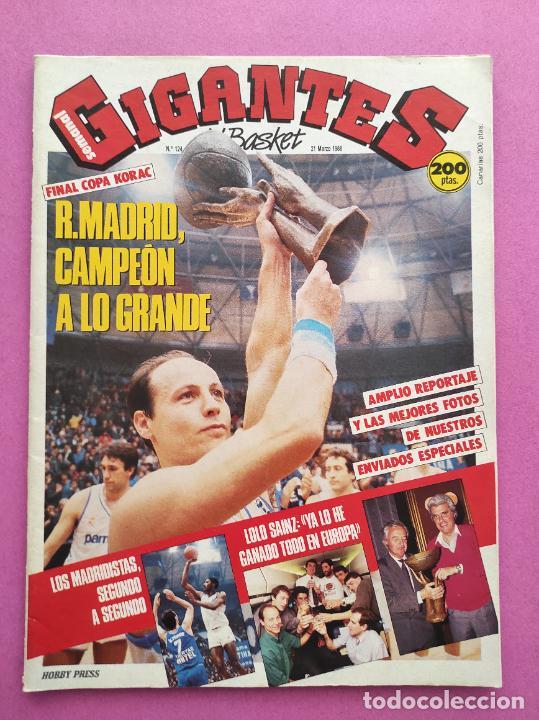 REVISTA GIGANTES DEL BASKET Nº 124 1988 REAL MADRID CAMPEON COPA KORAC 87/88-CORBALAN-LOLO SAINZ (Coleccionismo Deportivo - Revistas y Periódicos - otros Deportes)