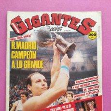 Coleccionismo deportivo: REVISTA GIGANTES DEL BASKET Nº 124 1988 REAL MADRID CAMPEON COPA KORAC 87/88-CORBALAN-LOLO SAINZ. Lote 263673405