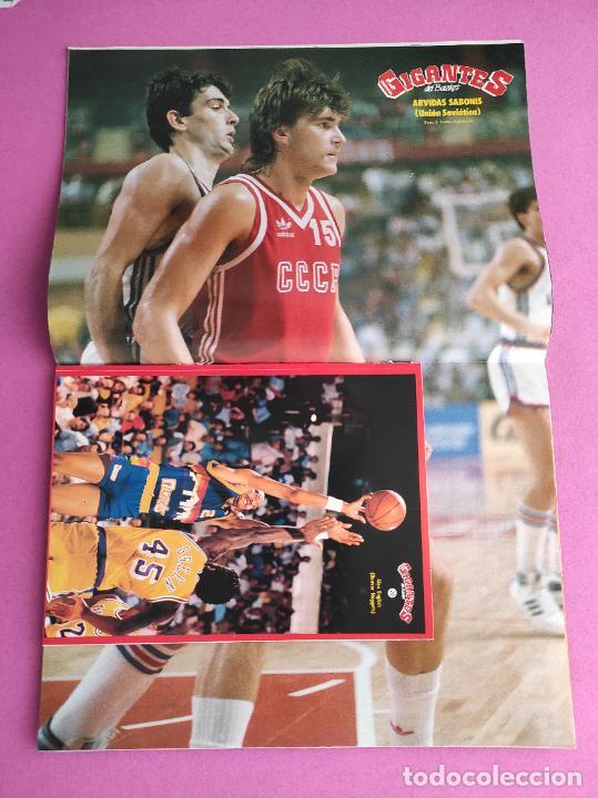 Coleccionismo deportivo: REVISTA GIGANTES DEL BASKET Nº 151 1988 PEGATINA ENGLISH NUGGETS-JJOO SEUL 88-POSTER SABONIS AFF - Foto 2 - 263674795