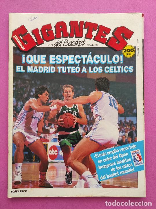 REVISTA GIGANTES DEL BASKET Nº 156 1988 OPEN MCDONALDS 88 BOSTON CELTICS POSTER ROBERT PARISH (Coleccionismo Deportivo - Revistas y Periódicos - otros Deportes)