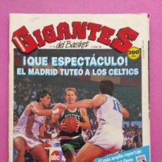 Coleccionismo deportivo: REVISTA GIGANTES DEL BASKET Nº 156 1988 OPEN MCDONALDS 88 BOSTON CELTICS POSTER ROBERT PARISH. Lote 263681960