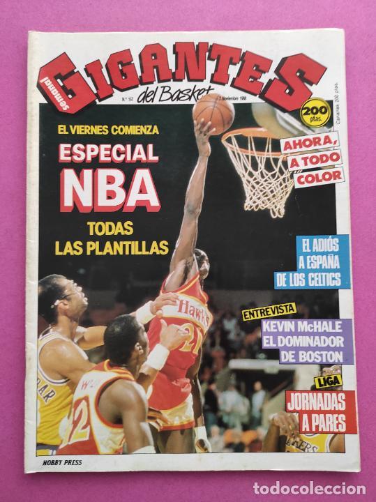 REVISTA GIGANTES DEL BASKET Nº 157 1988 ESPECIAL NBA TEMPORADA 88/89 POSTERS CELTICS-REAL MADRID (Coleccionismo Deportivo - Revistas y Periódicos - otros Deportes)