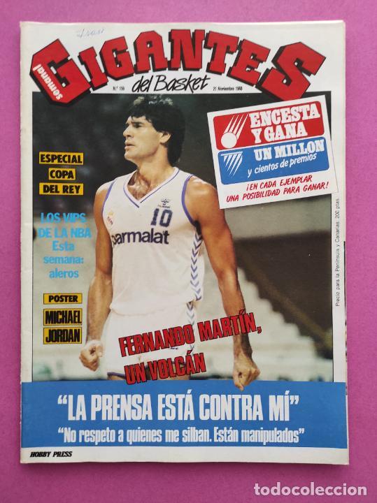 REVISTA GIGANTES DEL BASKET Nº 159 1988 ESPECIAL COPA DEL REY 88 - POSTER MICHAEL JORDAN BULLS NBA (Coleccionismo Deportivo - Revistas y Periódicos - otros Deportes)