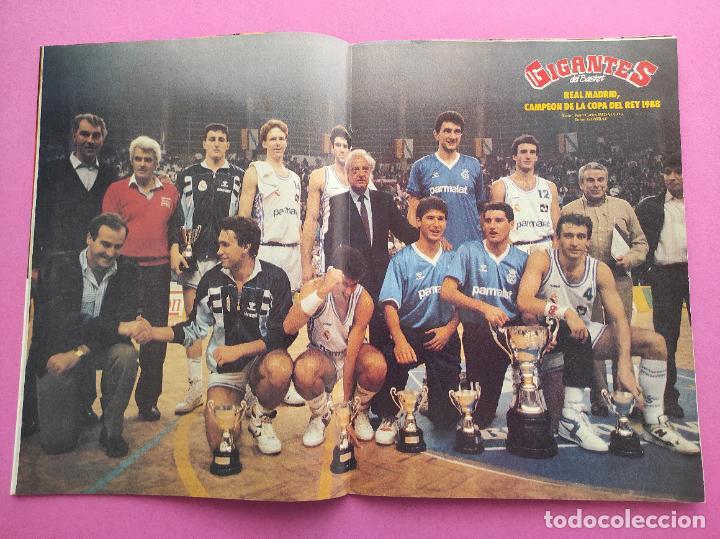 Coleccionismo deportivo: REVISTA GIGANTES DEL BASKET Nº 160 1988 REAL MADRID CAMPEON COPA DEL REY 88 PETROVIC - Foto 2 - 263683785