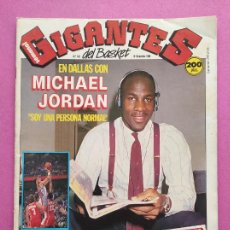 Coleccionismo deportivo: REVISTA GIGANTES DEL BASKET Nº 163 1988 ESPECIAL ENTREVISTA MICHAEL JORDAN POSTER VALVI GIRONA. Lote 263684140