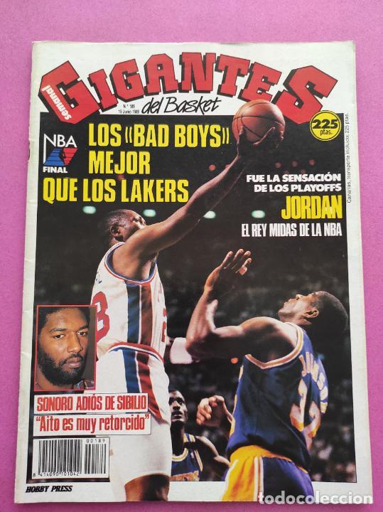 REVISTA GIGANTES DEL BASKET Nº 189 1989 DETROIT PISTONS CAMPEON NBA 88/89 POSTER JORDAN BULLS (Coleccionismo Deportivo - Revistas y Periódicos - otros Deportes)