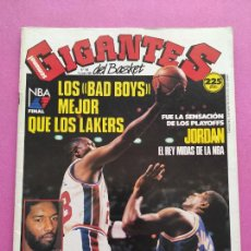Coleccionismo deportivo: REVISTA GIGANTES DEL BASKET Nº 189 1989 DETROIT PISTONS CAMPEON NBA 88/89 POSTER JORDAN BULLS. Lote 263686260