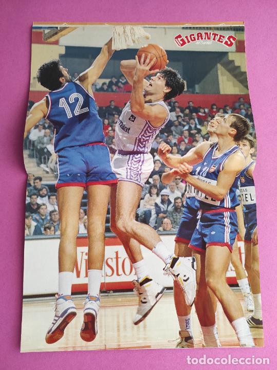 Coleccionismo deportivo: REVISTA GIGANTES DEL BASKET Nº 215 1989 ADIOS FERNANDO MARTIN - POSTER REAL MADRID - CHICHO SIBILIO - Foto 2 - 263686780