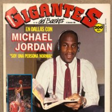 Collezionismo sportivo: GIGANTES DEL BASKET N° 163 (1988). MICHAEL JORDAN, COMPETICIONES EUROPEAS (BARCELONA, MADRID, JOVENT. Lote 266557303