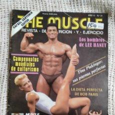 Coleccionismo deportivo: CULTURISMO - THE MUSCLE Nº 31 - REVISTA DE NUTRICIÓN Y EJERCICIO -ED. RAFAEL SANTONJA. Lote 267508814