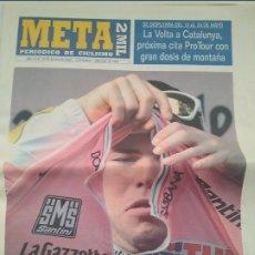Coleccionismo deportivo: PERIODICO CICLISMO META 2MIL. GIRO DE ITALIA 2009.MUY BUEN ESTADO.. Lote 268984064