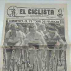 Coleccionismo deportivo: SEMANARIO CICLISTA. EL CICLISTA Nº157- TOUR DE FRANCIA 1986. MUY BUEN ESTADO.. Lote 268984824