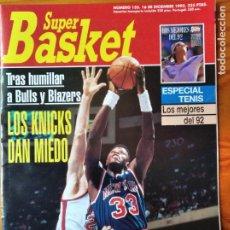 Coleccionismo deportivo: SUPER BASKET Nº 155 DE 1992- KNICKS PATRICK EWING- DETROIT PISTONS- ORLANDO MAGIC- TENIS- NHL.... Lote 269253388