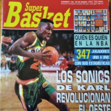Coleccionismo deportivo: SUPER BASKET Nº 160 DE 1993- SUPERSONICS- HORNETS- MICHAEL JORDAN- BARKLEY- NHL- NBA.... Lote 269254908