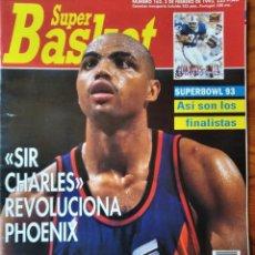 Coleccionismo deportivo: SUPER BASKET Nº 162 DE 1993- CHARLES BARKLEY SUNS- ANGELES LAKERS- ALL STAR NBA- SUPERBOWL NHL.... Lote 269255293