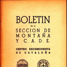 Coleccionismo deportivo: BOLETIN Nº 8 DE LA SECCION DE MONTAÑA Y C.A.D.E. DICIEMBRE 1949. Lote 269415008