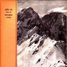 Coleccionismo deportivo: BOLETIN Nº 12 DE LA SECCION DE MONTAÑA Y C.A.D.E. DICIEMBRE 1950. Lote 269415378