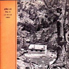 Coleccionismo deportivo: BOLETIN Nº 14 DE LA SECCION DE MONTAÑA Y C.A.D.E. JUNIO 1951. Lote 269415553