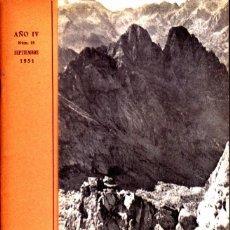 Coleccionismo deportivo: BOLETIN Nº 15 DE LA SECCION DE MONTAÑA Y C.A.D.E. SEPTIEMBRE 1951. Lote 269415648