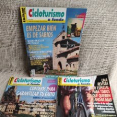 Coleccionismo deportivo: CICLISMO A FONDO - CICLOTURISMO A FONDO - LOTE DE 3 EJEMPLARES - CICLISMO. Lote 269841723