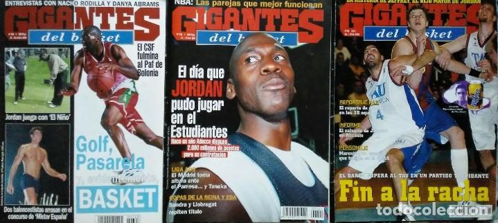 Coleccionismo deportivo: Michael Jordan & Washington Wizards - 14 revistas Gigantes del Basket (2001-2003) - NBA - Foto 11 - 145216850