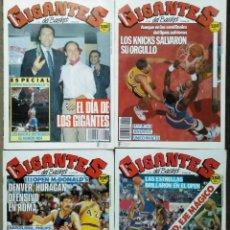 Coleccionismo deportivo: REVISTAS ''GIGANTES DEL BASKET'' Y ''SUPERBASKET'' - OPEN MCDONALDS DE 1987, 1989 Y 1990 - NBA. Lote 270191823