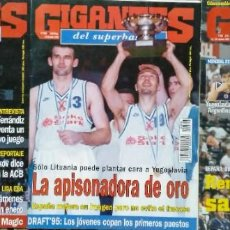 Coleccionismo deportivo: REVISTAS ''GIGANTES DEL BASKET'' - YUGOSLAVIA, CAMPEONA DE EUROPA (1995) Y DEL MUNDO (2002). Lote 270191828