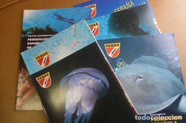 LOTE DE 6 REVISTAS DE LA FEDAS,,,AÑOS 90...ACTIVIDADES SUBACUATICAS.. (Coleccionismo Deportivo - Revistas y Periódicos - otros Deportes)