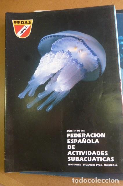Coleccionismo deportivo: Lote de 6 revistas de la FEDAS,,,años 90...Actividades Subacuaticas.. - Foto 2 - 270917933