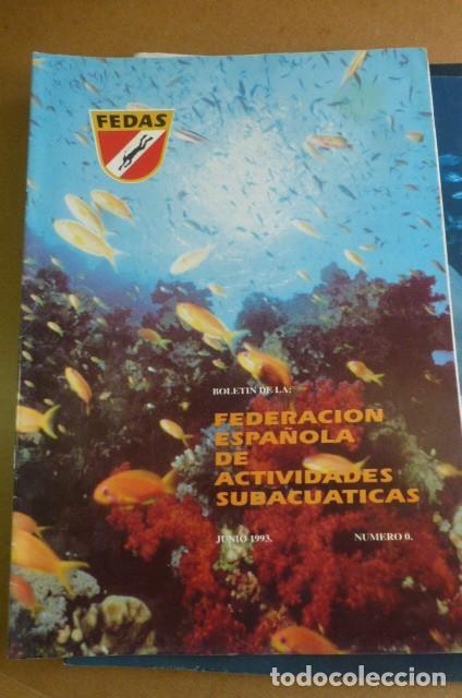 Coleccionismo deportivo: Lote de 6 revistas de la FEDAS,,,años 90...Actividades Subacuaticas.. - Foto 3 - 270917933