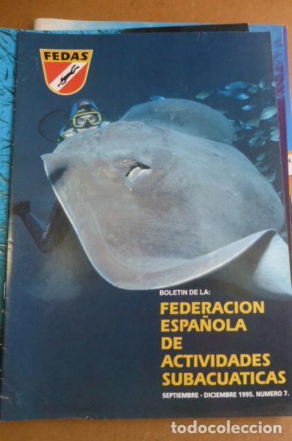 Coleccionismo deportivo: Lote de 6 revistas de la FEDAS,,,años 90...Actividades Subacuaticas.. - Foto 4 - 270917933