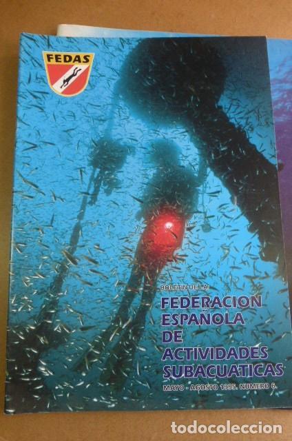 Coleccionismo deportivo: Lote de 6 revistas de la FEDAS,,,años 90...Actividades Subacuaticas.. - Foto 5 - 270917933