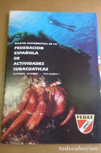 Coleccionismo deportivo: Lote de 6 revistas de la FEDAS,,,años 90...Actividades Subacuaticas.. - Foto 6 - 270917933