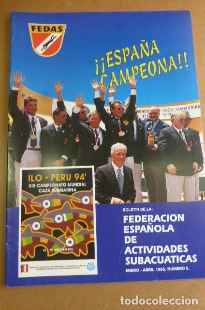 Coleccionismo deportivo: Lote de 6 revistas de la FEDAS,,,años 90...Actividades Subacuaticas.. - Foto 7 - 270917933