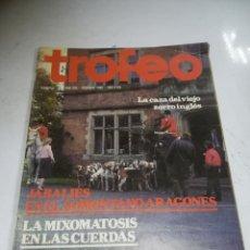 Coleccionismo deportivo: REVISTA DEPORTIVA. TROFEO. Nº 177. FEBRERO 1985. JABALÍES, MIXOMATOSIS EN LAS CUERDAS.. Lote 271558008