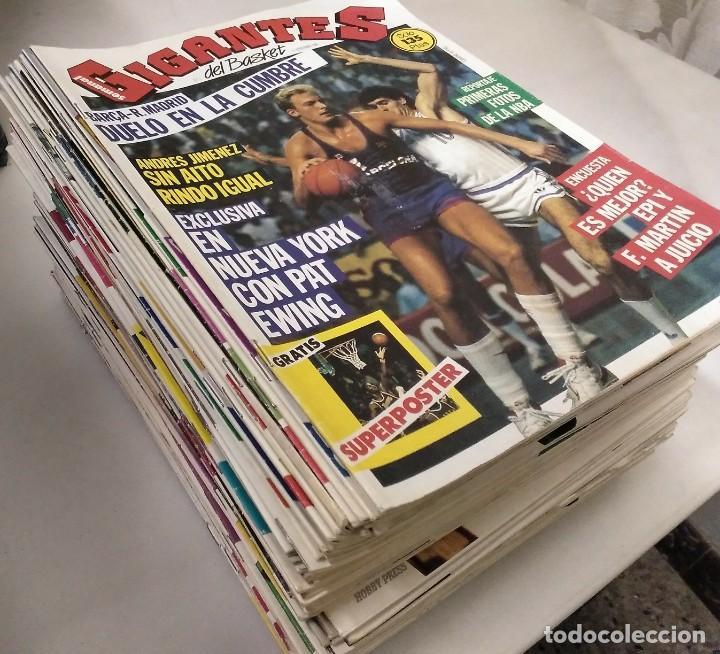 COLECCIÓN DE 124 DE LAS 150 PRIMERAS REVISTAS ''GIGANTES DEL BASKET'' (1985-88) + ESPECIAL JORDAN (Coleccionismo Deportivo - Revistas y Periódicos - otros Deportes)