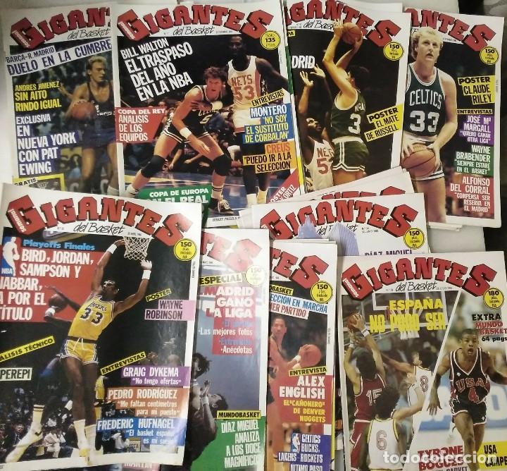Coleccionismo deportivo: Colección de 124 de las 150 primeras revistas Gigantes del Basket (1985-88) + Especial Jordan - Foto 2 - 162988738