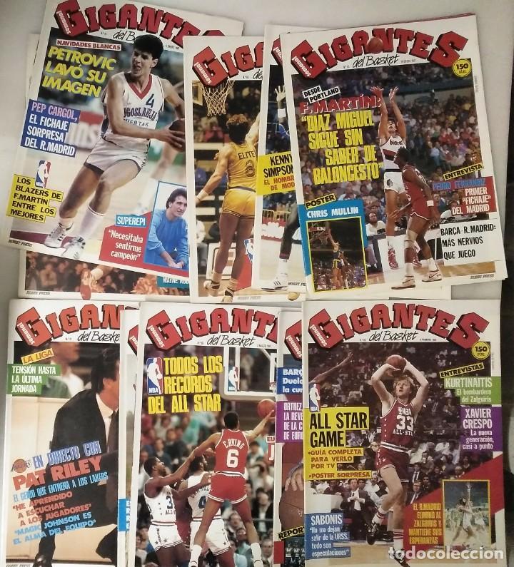 Coleccionismo deportivo: Colección de 124 de las 150 primeras revistas Gigantes del Basket (1985-88) + Especial Jordan - Foto 3 - 162988738