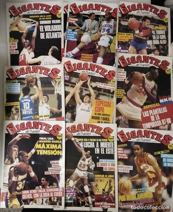 Coleccionismo deportivo: Colección de 124 de las 150 primeras revistas Gigantes del Basket (1985-88) + Especial Jordan - Foto 14 - 162988738