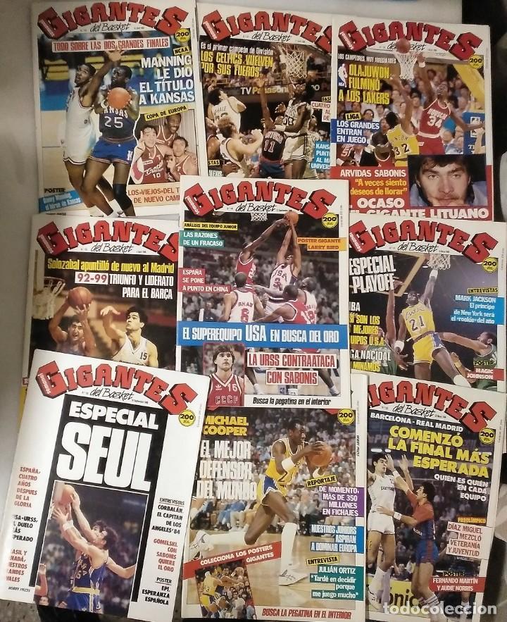 Coleccionismo deportivo: Colección de 124 de las 150 primeras revistas Gigantes del Basket (1985-88) + Especial Jordan - Foto 20 - 162988738