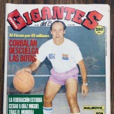 Collezionismo sportivo: GIGANTES DEL BASKET 245 VUELTA CORBALÁN DÍAZ MIGUEL MALJKOVIC CARL HERRERA VOLKOV PÓSTER ESPAÑA. Lote 272225928