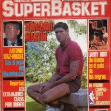 Coleccionismo deportivo: REVISTA SUPER BASKET DE OCTUBRE DE 1986 PORTADA Y REPORTAJE FERNANDO MARTIN. Lote 275164403