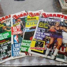 Coleccionismo deportivo: LOTE 4 REVISTAS GIGANTES DEL BASKET Nº 1-2-3-5 LAS PRIMERAS AÑO 1985 SIN POSTER. Lote 275448613