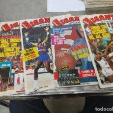 Coleccionismo deportivo: LOTE 5 REVISTAS GIGANTES DEL BASKET Nº 60-63-64-67-69 AÑO 1986 SIN POSTER. Lote 275450103