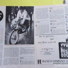 Coleccionismo deportivo: AÑO 1969 - ANGEL NIETO - 2 PAGINAS. Lote 276493583