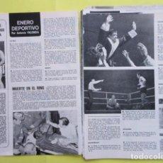 Coleccionismo deportivo: AÑO 1970 - BOXEO ROCKY MARCIANO CASSIUS CLAY MIGUEL VELAZQUEZ - 2 PAGINAS. Lote 276493908