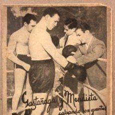Coleccionismo deportivo: REVISTA BOXEO N° 562 (1936). ISIDORO GAZTAÑAGA Y BLAS MENDIETA, PAULINO UZCUDUN, JOE LEWIS, BRITO,... Lote 276497028